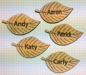3mm Laser Cut Plywood Name Plaques - Laser Lab
